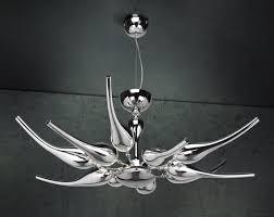 chrome plated murano glass pendant