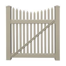 Weatherables Barrington 4 Ft W X 3 Ft H Khaki Vinyl Picket Fence Gate Kit Skpi 1 5nrsc 3x48 The Home Depot