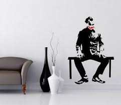 Joker Removable Unique Wall Sticker Pvc Vinyl Wall Decal Living Room Decor Ebay