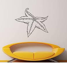Amazon Com Starfish Wall Decal Underwater World Vinyl Sticker Marine Ocean Interior Home Door Sticker Bedroom Decor Housewares 9s02f Kitchen Dining