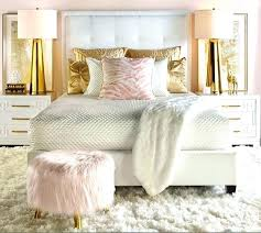 rose gold bedspread master bedroom idea