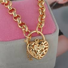 kuniu filigree heart padlock bracelet