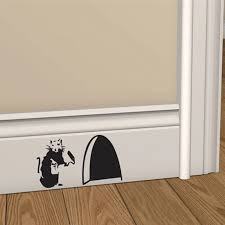 Banksy Rat Hole Wall Art Sticker Vinyl Decal Mouse Home Skirting Board Removable Wall Stickers Aliexpress