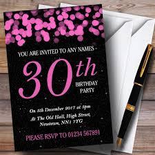 Rosa Bokeh Y Estrellas 30 Personalizado Invitaciones Para Fiesta