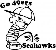 Go 49ers Pee On Seahawks Car Or Truck Window Decal Sticker Rad Dezigns