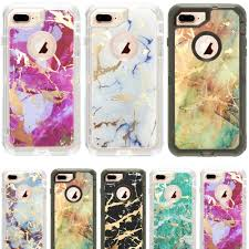 Skin Decal Wrap For Otterbox Defender Iphone 8 Plus Sticker White Marble For Sale Online Ebay