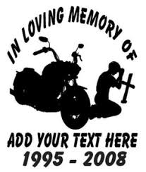 In Loving Memory Of Decal Motor Cycle Truck Stickers Wildlife Decal