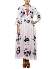 black and white underlay long dress