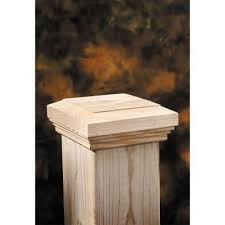 6 In X 6 In Wood Flat Fancy Post Cap 6 Pack 189301 The Home Depot Post Cap Fence Post Caps Deck Post Caps