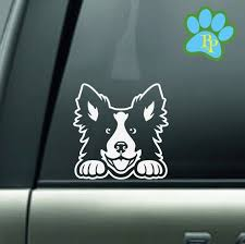 Border Collie Decal Border Collie Car Decal Sticker Border Etsy Border Collie Collie Dog Car