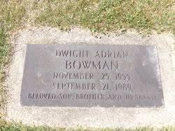 Dwight Adrian Bowman (1955-1989) - Find A Grave Memorial