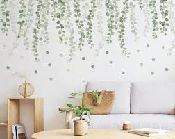Botanical Wall Decal Etsy