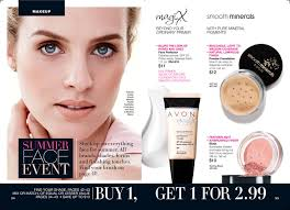 makeup summer face event avon lady