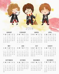 Harry Potter Calendario 2018 Para Imprimir Gratis Oh My Fiesta