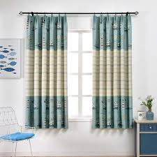 New Blue Sea Short Curtains For Children Room Half Shade Curtains High Quality Curtains For Living Room The Bedroom Kids Curtain Curtains For Curtains For Living Roomthe Curtain Aliexpress