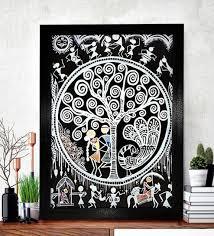 black wood ethnic dhokra and warli art