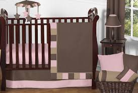 soho pink and brown baby bedding 11pc