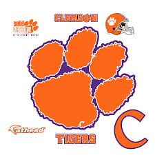 Clemson Tigers Paw Precision Cut Decal Agenlaacademyatuniversityincameroon Com