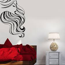 Hair Barber Vinyl Wall Decal Beauty Salon Beautiful Woman Wall Stickers Bedroom Large Wall Decals For Living Room Art Mural Buy Wall Decals Buy Wall Sticker From Joystickers 11 67 Dhgate Com