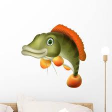 Bass Fish Cartoon Wall Decal Wallmonkeys Com