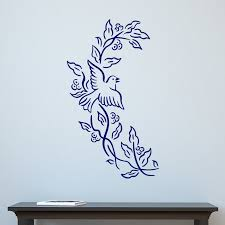 Dove And Branch Design Wall Sticker Decal World Of Wall Stickers