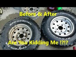 cleaning nasty aluminum wheels with