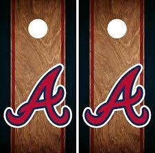 Atlanta Braves Cornhole Wrap Mlb America Game Board Skin Set Vinyl Decal Co463 Sporting Goods Cornhole Bag Toss Romeinformation It