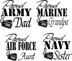 Army Air Force Marine Navy Family Member Car Decal Proud Etsy