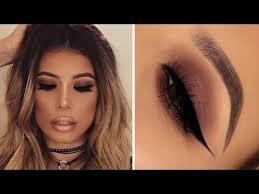 easy brown smokey eye makeup look