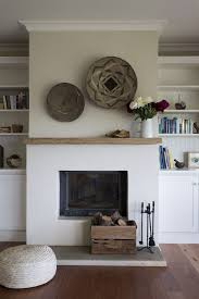 white wood fireplace simple