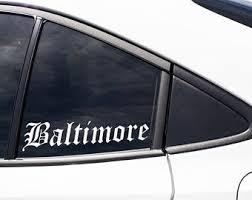 Maryland Car Decal Etsy