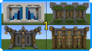 10 Minecraft Wall Designs In 100 Seconds Minecraft Bedrock Edition Youtube