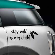 Stay Wild Moon Child Car Vinyl Sticker Vintage Motorcycle Suvs Bumper Car Window Laptop Decal Car Stickers Aliexpress