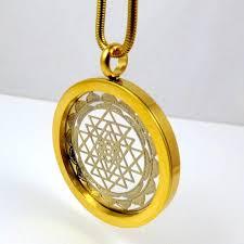 shree yantra sacred geometry pendant