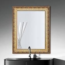 wall mounted bathroom mirror frame