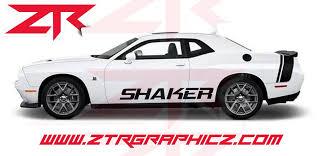 Custom Dodge Challenger Rt Shaker Rocker Panel Decals Ztr Graphicz