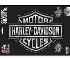 Harley Davidson Large Black And Silver Shield Logo Vinyl Window Decal