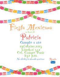Invitacion Para Fiesta Mexicana 1 Solo Lado Invitaciones