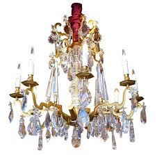 antique bronze round crystal chandelier