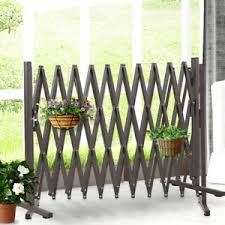 Garden Gate Safety Gate Metal Indoor Outdoor Expandable Fence Barrier Traffic Ebay