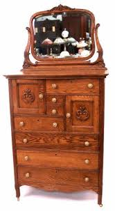 oak hi boy double hat box dresser