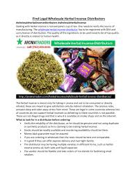 Authorized Wholesale Herbal Incense Distributors by wholesale ...