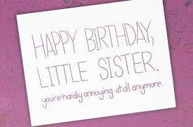 happy birthday little sister es