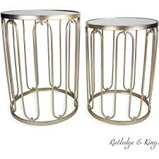 round end table set gold end tables