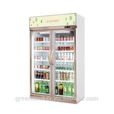 glass door commercial freezer display