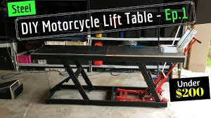 diy motorcycle hydraulic lift table