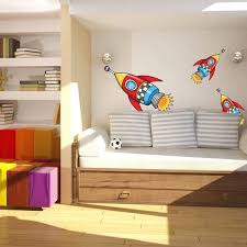 Shop Rocket Space Boys Full Color Wall Decal Sticker K 1226 Frst Size 52 X80 Overstock 21477200