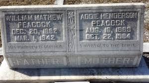 William Matthew Peacock (1882-1942) - Find A Grave Memorial