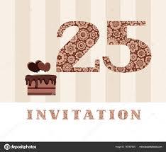 Invitation Years Old Chocolate Cake Heart Vector Invitation Birthday Party Stock Vector C Elenavdovina 187067500