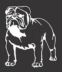 Amazon Com Bulldog Die Cut Vinyl Window Decal Sticker For Car Truck 5 X6 Arts Crafts Sewing